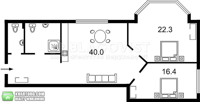 продам 3-комнатную квартиру. Киев, ул. Кудрявский спуск 3а. Цена: 170000$  (ID 2245720) - Фото 9