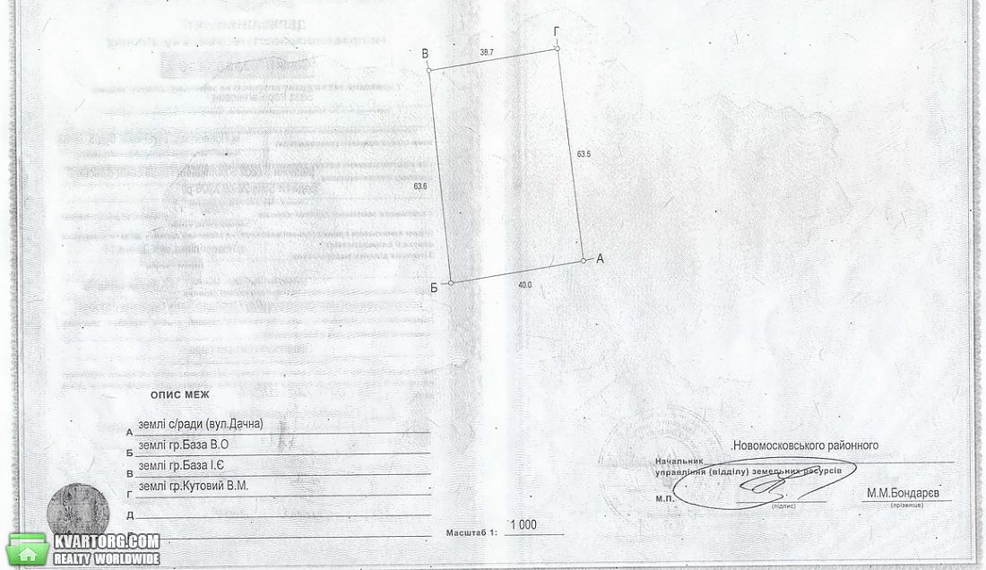 продам участок. Днепропетровск, ул.Дачная . Цена: 500$  (ID 1985723) - Фото 1