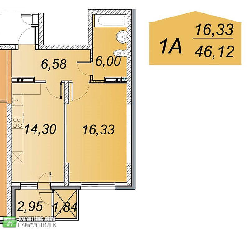 продам 1-комнатную квартиру. Киев, ул. Ясиноватский пер 11. Цена: 33080$  (ID 2099712) - Фото 2