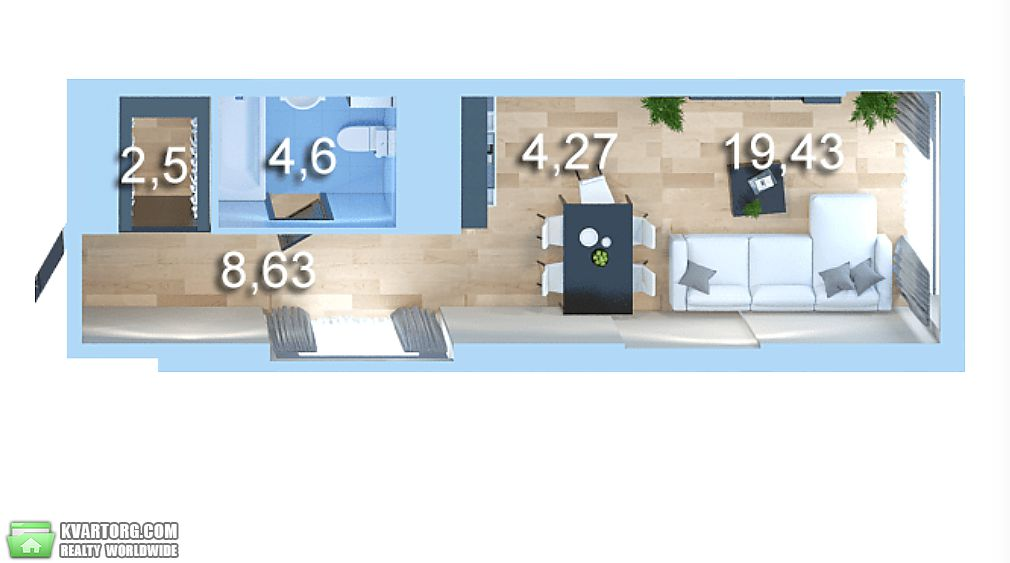 продам 1-комнатную квартиру Киев, ул.Бойчука/Киквидзе 41 - Фото 1