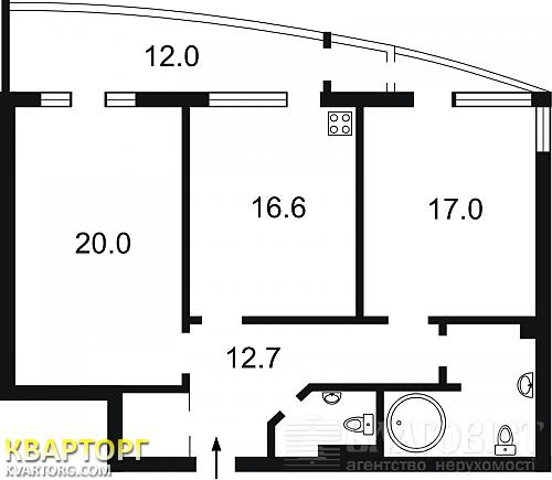 продам 2-комнатную квартиру. Киев, ул. Барбюса 37/1. Цена: 95000$  (ID 1308335) - Фото 2