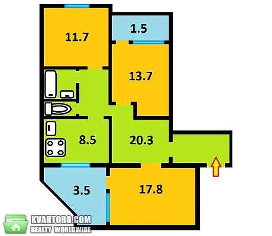 продам 3-комнатную квартиру Киев, ул. Лайоша Гавро 11д - Фото 1