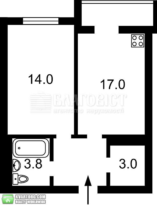 продам 2-комнатную квартиру. Киев, ул. Барбюса 51/1а. Цена: 115000$  (ID 2070384) - Фото 2