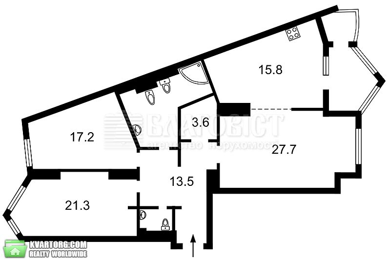 продам 3-комнатную квартиру. Киев, ул. Богдана Хмельницкого 58а. Цена: 199000$  (ID 2071015) - Фото 8