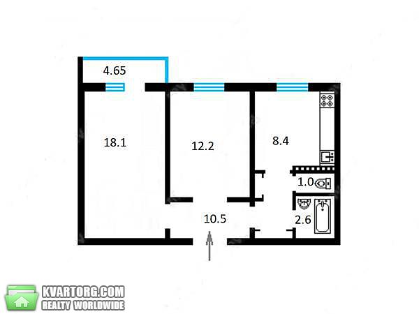 продам 2-комнатную квартиру Киев, ул. Лайоша Гавро 1а - Фото 2