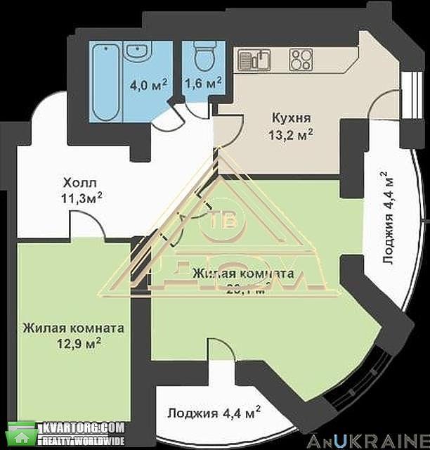 продам 2-комнатную квартиру. Одесса, ул.Костанди ул. . Цена: 68000$  (ID 1982941) - Фото 4