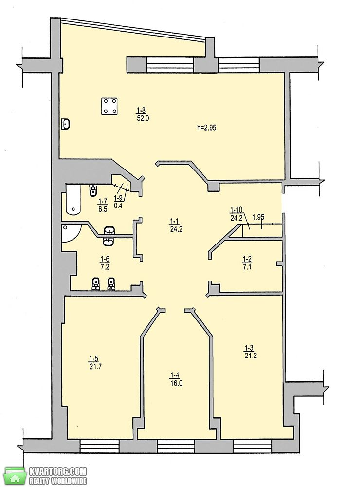 продам 4-комнатную квартиру Днепропетровск, ул.Гусенко - Фото 9