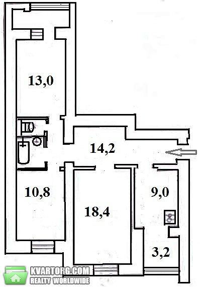 продам 3-комнатную квартиру. Киев, ул. Бориславская  54. Цена: 67000$  (ID 2058211) - Фото 3
