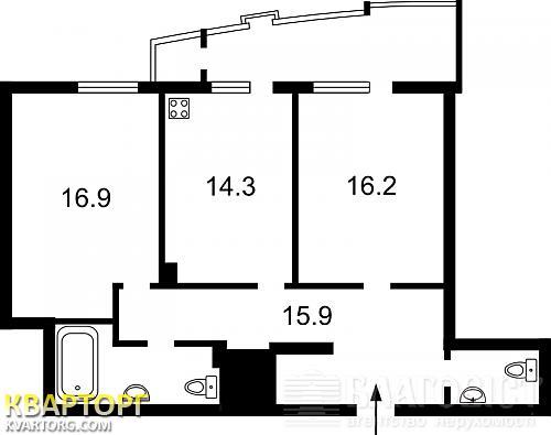 продам 2-комнатную квартиру. Киев, ул. Барбюса 37/1. Цена: 100000$  (ID 1308338) - Фото 3