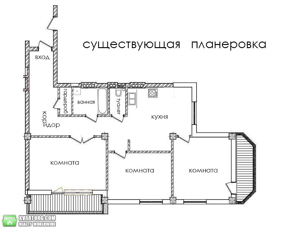 продам 3-комнатную квартиру. Киев, ул. Соляная 70. Цена: 133000$  (ID 2171574) - Фото 7