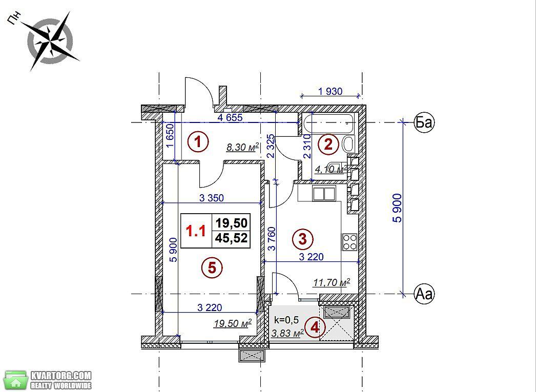 продам 1-комнатную квартиру. Киев, ул. Воровского 15а. Цена: 1600$  (ID 2002394) - Фото 2