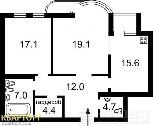 продам 2-комнатную квартиру. Киев, ул. Барбюса 37/1. Цена: 95000$  (ID 1308348) - Фото 2
