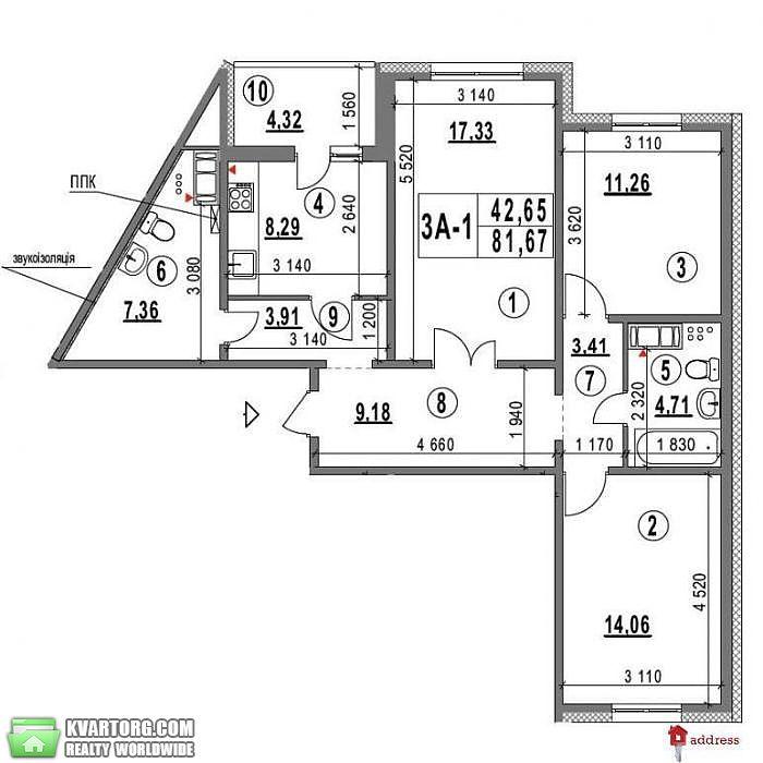 продам 3-комнатную квартиру. Киев, ул. Глушкова пр 6. Цена: 54000$  (ID 1985832) - Фото 9