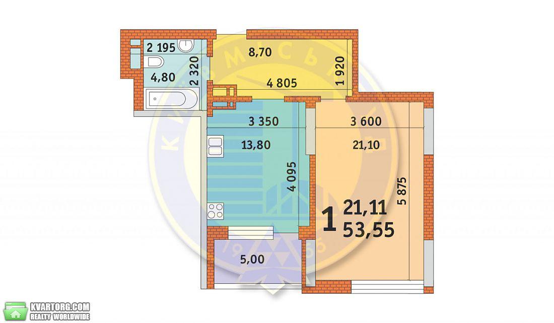 продам 1-комнатную квартиру. Киев, ул. Лейпцигская 13. Цена: 115300$  (ID 2100280) - Фото 1