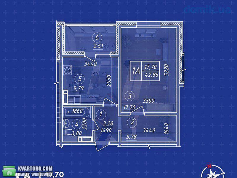 продам 1-комнатную квартиру Киев, ул.пер Балтийский 23 - Фото 2