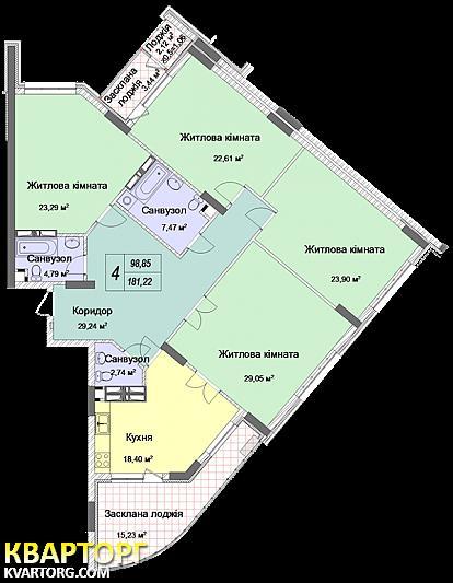 продам 4-комнатную квартиру Киев, ул.Драгомирова 20 - Фото 7