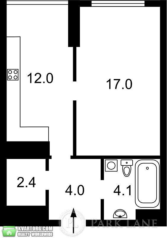 продам 1-комнатную квартиру. Киев, ул. Туманяна 3. Цена: 65000$  (ID 1797975) - Фото 6