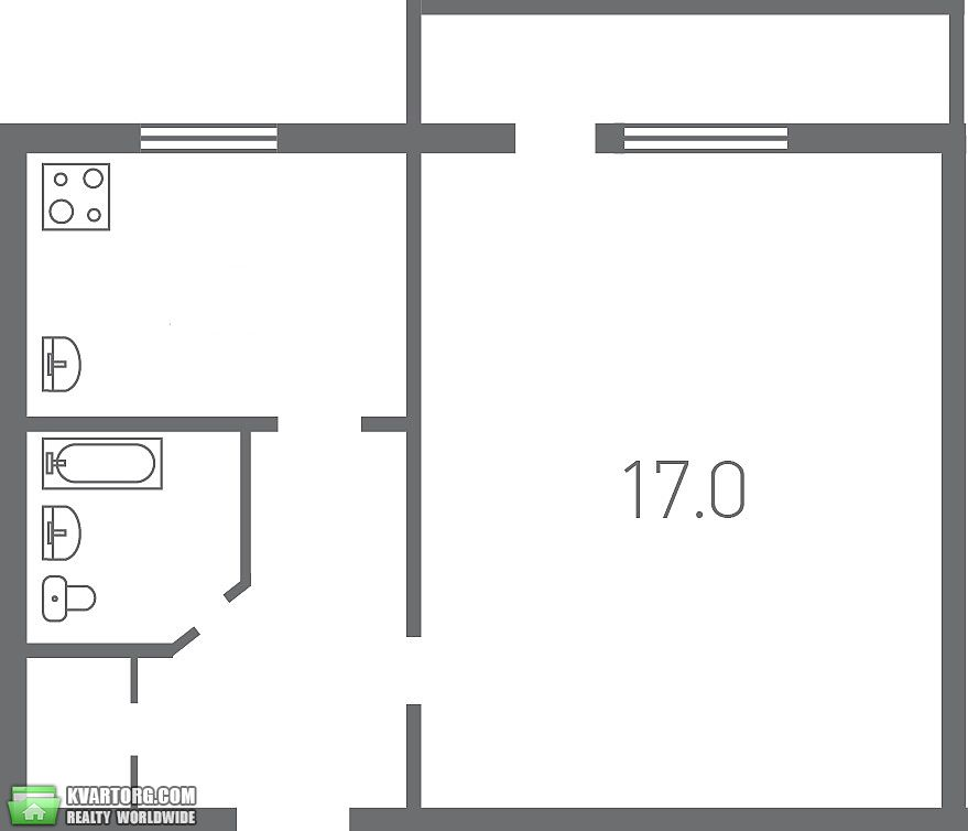 продам 1-комнатную квартиру. Киев, ул. 40-летия Октября просп . Цена: 34000$  (ID 2016989) - Фото 3