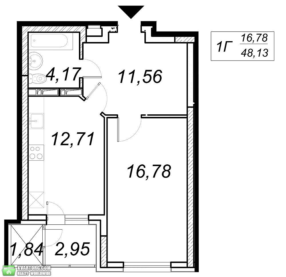 продам 1-комнатную квартиру. Киев, ул. Ясиноватский пер 11. Цена: 34485$  (ID 2099674) - Фото 2
