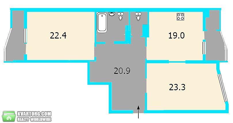 продам 2-комнатную квартиру. Киев, ул. Харьковское шоссе 17а. Цена: 42000$  (ID 2041224) - Фото 10